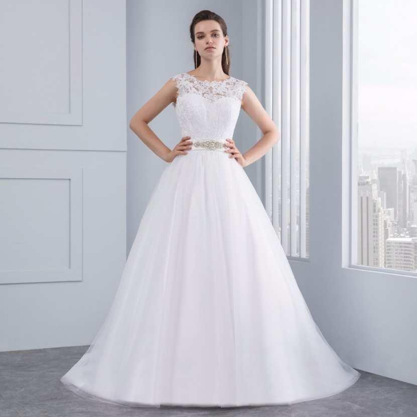 Robe de mari e avec dentelle pas cher avec traine dos v for Robes de mariage discount orlando fl