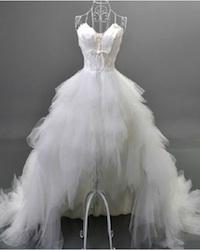 ROBE DE MARIÉE ORIGINALE PLUME ! MARIAGE PAS CHER. LIVRAISON GRATUITE ...