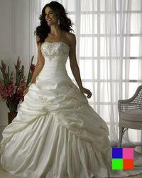 Magnifique robe de mariée bustier bouffante pas chère !
