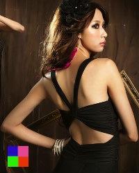 Robe noire longue en solde